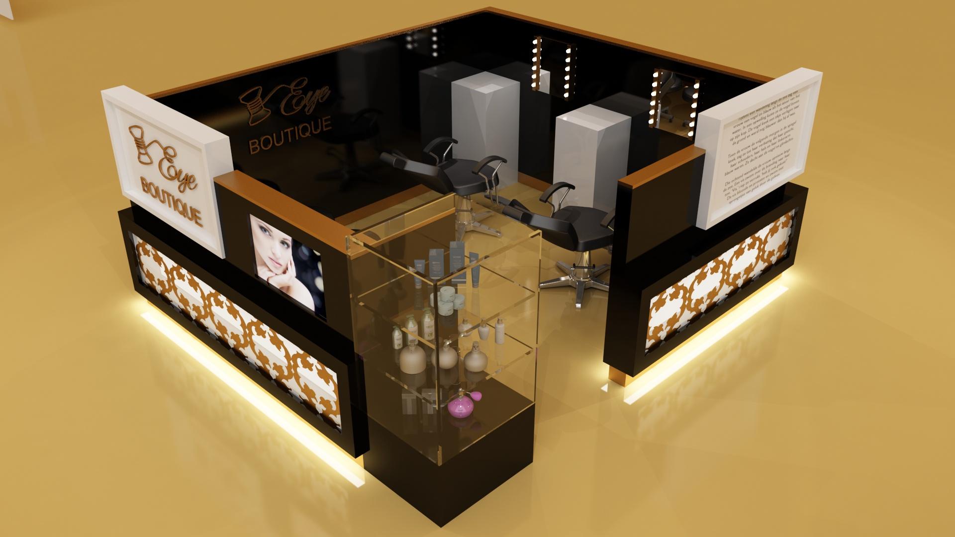 Handlowe stoisko kosmetyczne