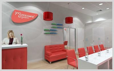 Projekt wnętrz salonu kosmetycznego